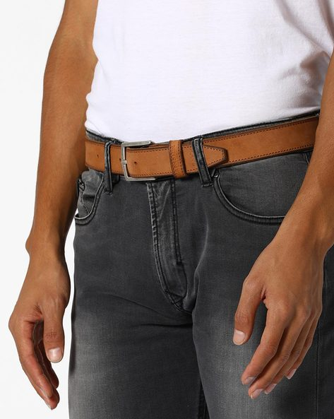 Genuine Leather Belt With Buckle Closure By U.S. Polo Assn. ( Tan )