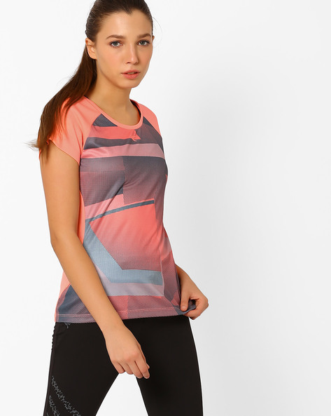 Crew-Neck T-shirt With QuickDry Technology By PERFORMAX ( Ltpeach )