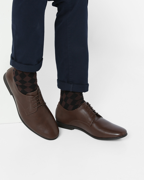 Lace-Up Derby Shoes By Bond Street By Red Tape ( Brown ) - 460131698001