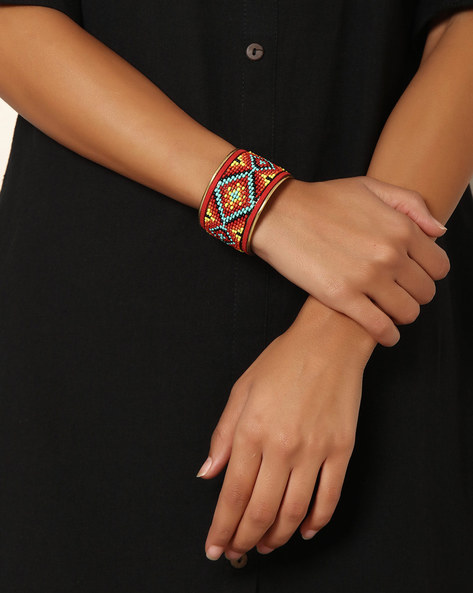 Adjustable Beaded Cuff By Indie Picks ( Multi )