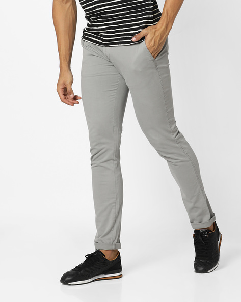 Mid-Rise Flat-Front Chinos By Aeropostale ( Orange )