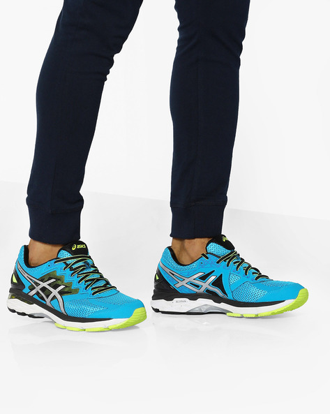 GT-2000 4 Lace-Up Sports Shoes By ASICS ( Bluyelblk )