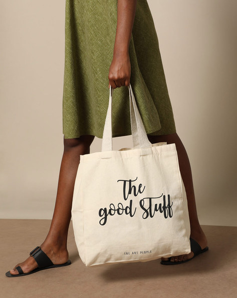 Multipurpose Cotton Canvas Tote Bag By The Art People ( White ) - 460179699001