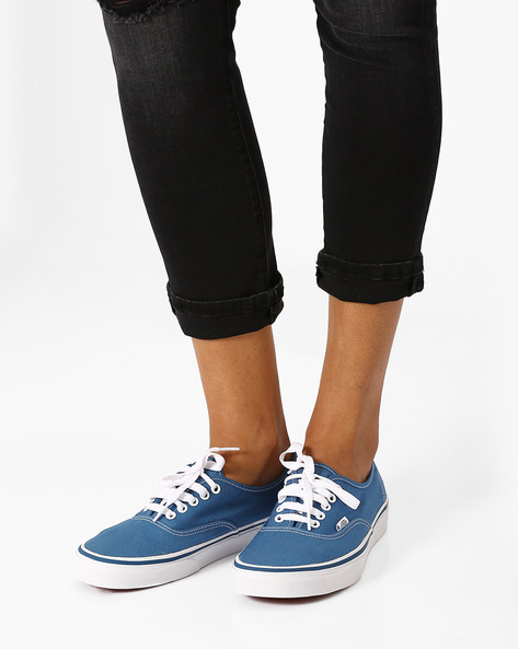Authentic Canvas Sneakers By Vans ( Navyblue )
