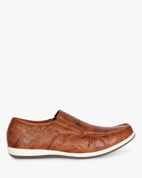 Genuine Leather Slip-on Shoes By Lee Cooper ( Tan )