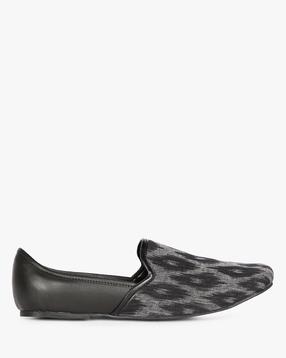 AJIO - Ikat Print Casual Nagra Shoes