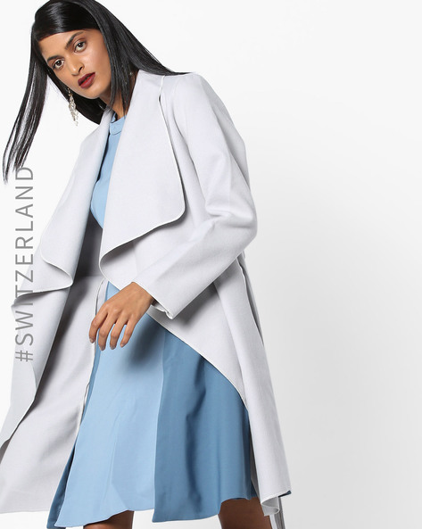 Wrap Coat With Waterfall Front By TALLY WEiJL ( Grey )
