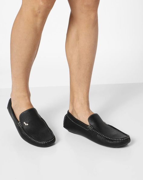 Textured Slip-On Casual Shoes By GNX ( Black )