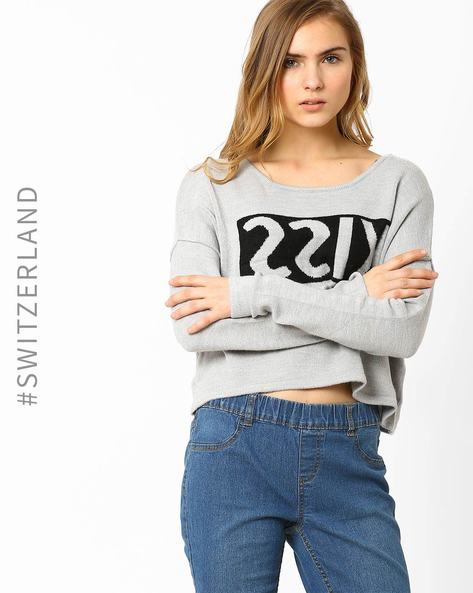Crop Sweatshirt By TALLY WEiJL ( Grey )