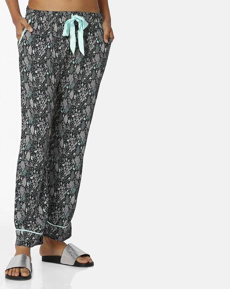 Printed Pyjama With Waist Tie-Up By Mystere Paris ( Black )