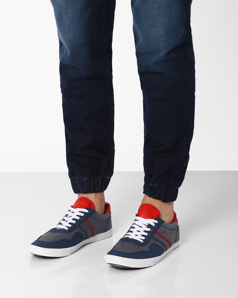 Canvas Lace-Up Shoes By AJIO ( Blue )