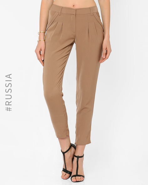 Ankle-Length Trousers By Kira Plastinina ( Coffeebrown )