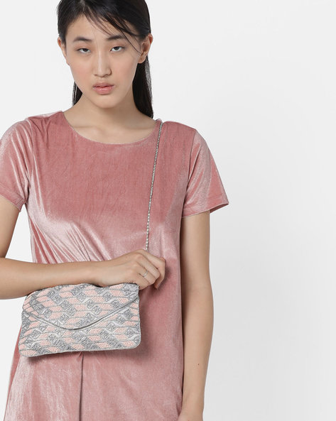 Envelope Clutch With Sequin Embellishments By Project Eve ( Multi )