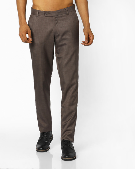 Slim Fit Cotton Trousers By JOHN PLAYERS ( Assorted )
