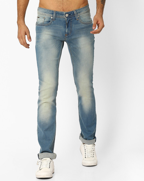 Torque Fit Stretch Jeans By BASICS ( Blue )