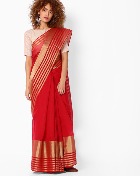Handloom Woven Art Silk Saree By SHRIKALA ( Red )