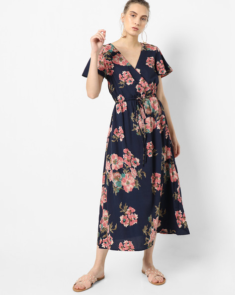 Floral Print Fit & Flare Dress By Oxolloxo ( Multi )