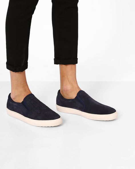 Textured Casual Shoes By Carlton London ( Navy ) - 460076178001