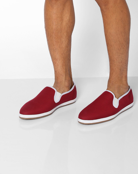 Canvas Low-Cut Casual Slip-Ons By AJIO ( Maroon )
