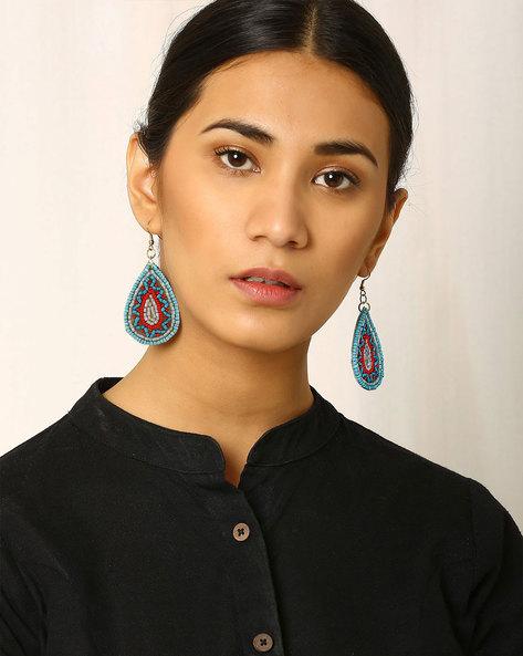 Beaded Drop-Earrings By Indie Picks ( Lightblue )