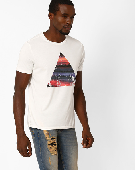 Graphic Print T-shirt By AJIO ( White )