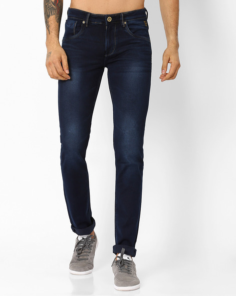 9240 Lightly Washed Skinny Fit Jeans By Killer ( Indigo )