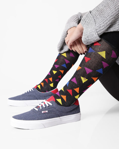 Era 59 Canvas Lace-Up Shoes By Vans ( Navy )