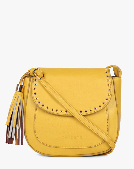 Sling Bag With Flap Closure By CAPRESE ( Yellow )