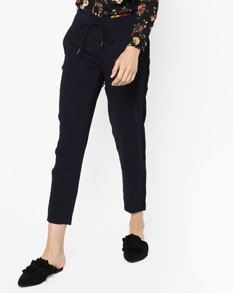 Ankle-Length Pants With Contrast Side Panels By Project Eve WW Athleisure ( Navy )