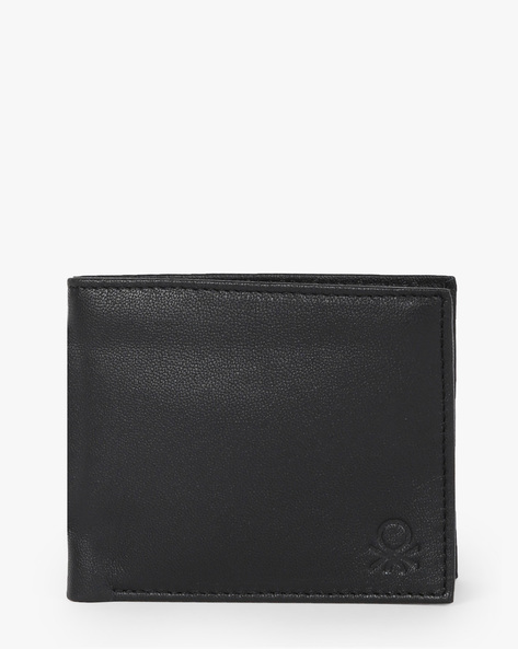 Genuine Leather Bi-Fold Wallet By UNITED COLORS OF BENETTON ( Black )