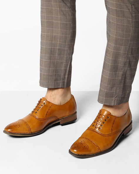 Formal Shoes With Broguing By Modello Domani ( Tan )