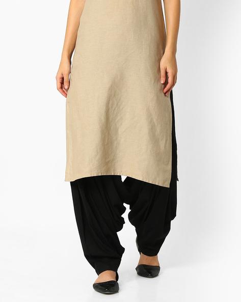 Pleated Patiala Pants By Stylenmart ( Black )