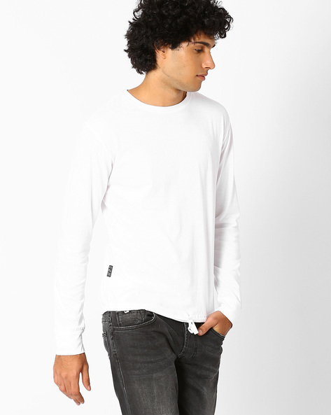 Crew-Neck Slim Fit T-shirt By Blue Saint ( White ) - 460059616001