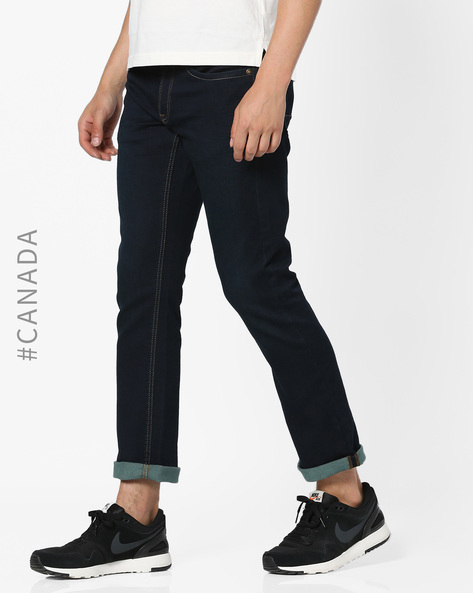 Slim Fit Hybrid Sweat Jeans By Point Zero ( Indigo )