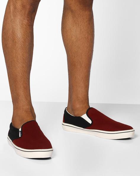 Colourblock Slip-on Shoes By DUKE ( Maroon )