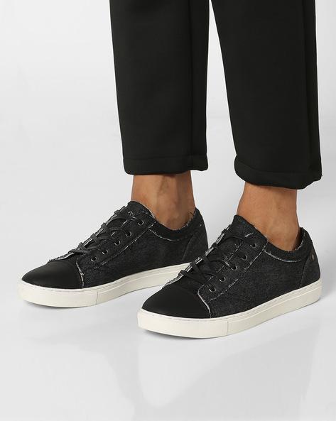Lace-Up Casual Shoes By AERO BLUEZ ( Black )