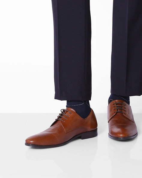 Genuine Leather Derby Shoes By RED TAPE ( Tan )