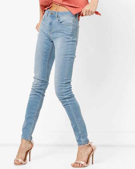 Skinny Fit Jeans By Vero Moda ( Fuschiablue )