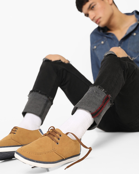 Low-Top N9-Treated Casual Shoes By AJIO ( Tan )