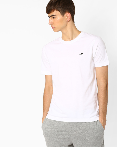Regular Fit Crew-Neck T-shirt By 2Go ( White )
