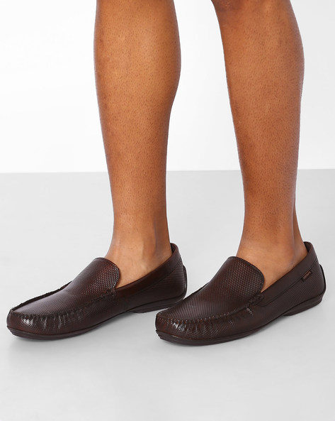 Genuine Leather Slip-On Shoes By RED TAPE ( Maroon )