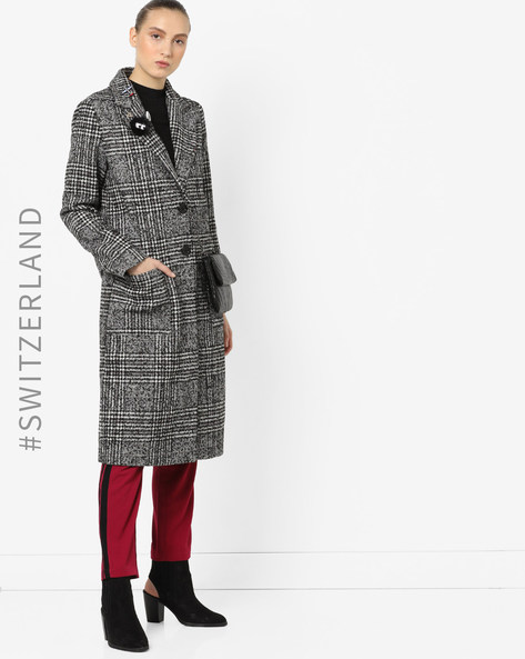 Trench Coat With Tie-Up By TALLY WEiJL ( Black )