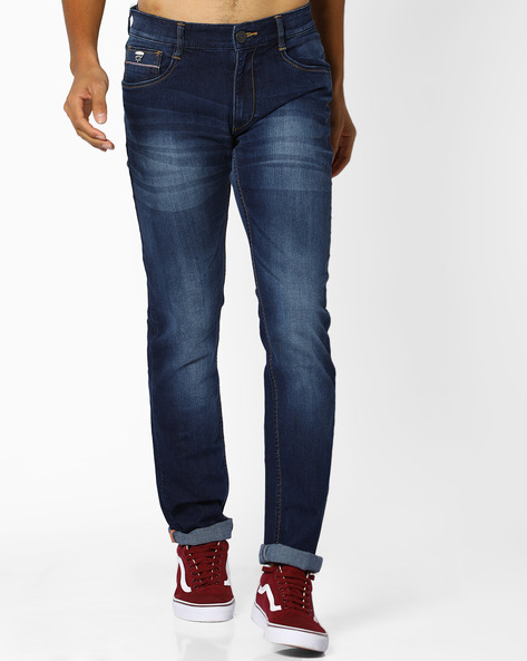 Mid-Rise Slim Fit Jeans By JOHN PLAYERS ( Mediumblue )