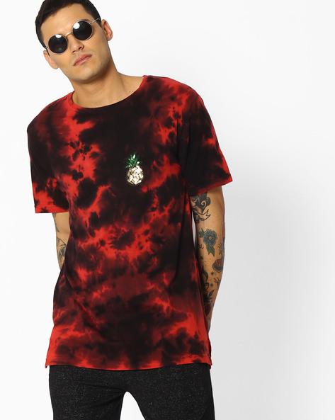Tie & Dye Crew-Neck T-shirt By ADAMO LONDON ( Multi )