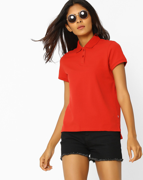 Polo T-shirt With Step Hem By LEVIS ( Red )