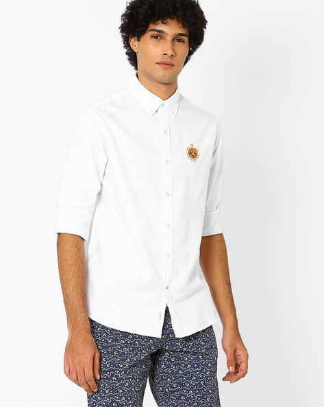 Regular Fit Shirt With Button-Down Collar By US POLO ( Assorted )