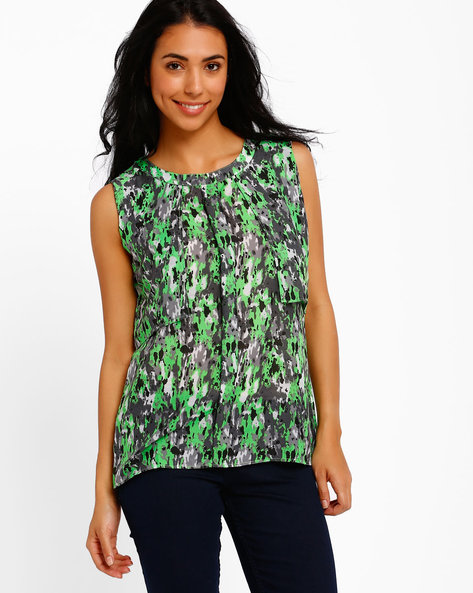 Pleated Front Top By Style Quotient By Noi ( Multi )