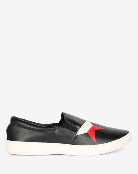 Slip-ons With Elasticated Gussets By AJIO ( Black ) - 460084004001