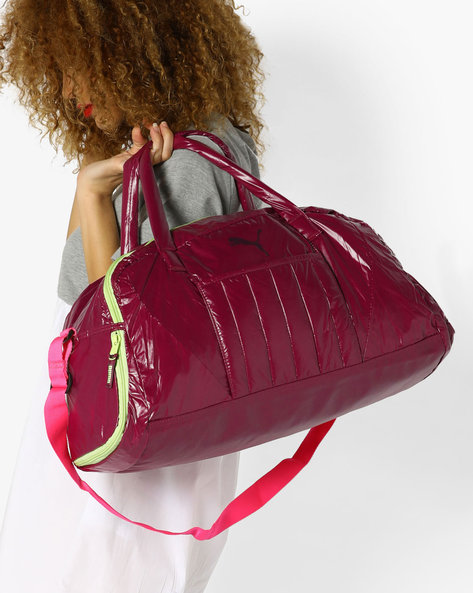 Fit At Sports Duffle Bag By Puma ( Magenta )
