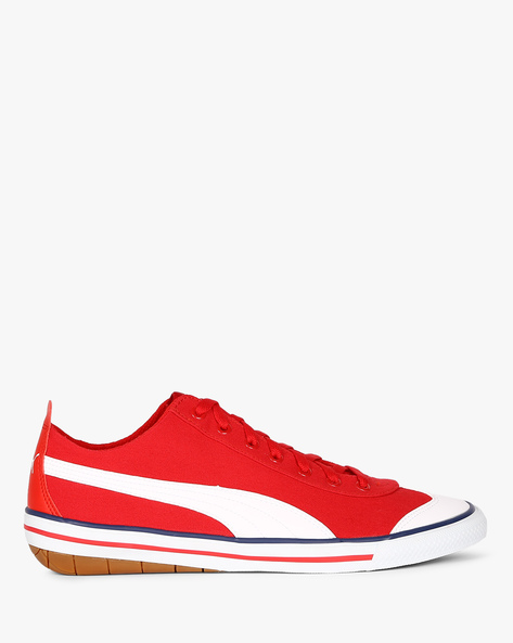 917 Fun IDP Lace-Up Casual Shoes By Puma ( Red )